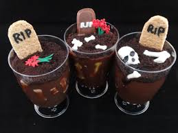for us r means rest in pudding these graveyard pudding cups are