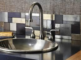 Aluminum Kitchen Backsplash Metallic Kitchen Backsplash Home Decoration Ideas
