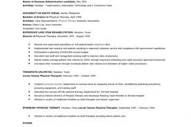 Physical Therapy Resume Sample by Sample Mft Intern Rsum Summary Of Qualifications Bbs Registered