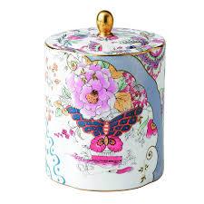 amazon com wedgwood harlequin butterfly bloom ceramic tea caddy