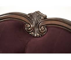 Sofa With Wood Trim by 2 509 00 Lavelle Wood Trim Tufted Sofa Dark Plum By Michael