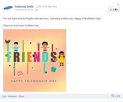 Samsung India Friendship day Lighthouse Insights