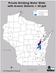 Wisconsin Map With Counties by Arsenic Occurrence Wisconsin Dnr