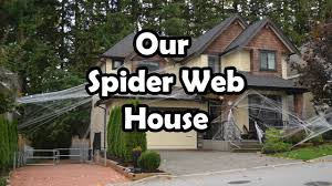 halloween home decorations halloween spider web house decorations bethany g youtube
