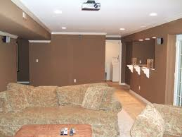 Modern Room Nuance Painting Bright White Painted Ceiling Completed With Round Lamp
