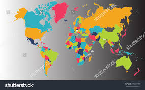 World Map Asia by World Map Europe Asia North America Stock Illustration 473207773