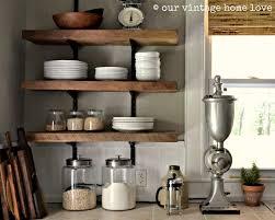 Kitchen Shelf Decorating Ideas Wooden Kitchen Wall Shelves Salvaged Wood Shelf Motiq Online Home