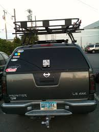 nissan frontier jacked up basket on camper shell nissan frontier forum