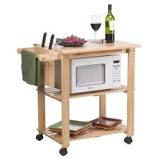 Marble Top Kitchen Island Cart by White Microwave Cart Microwave Stand In Oak With White White