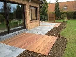 terasse en palette terrasse pierre bleue et bois exotique à verlinghem 59 nord