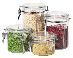 4 pc acrylic canister set