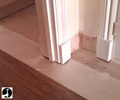 Laminate Flooring No Transitions Laying Laminate In A Doorway
