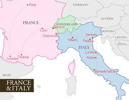 Map Of Italy Regions by France And Italy Map Recana Masana