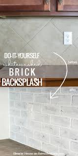 Backsplash Kitchen Photos Best 20 Painting Tile Backsplash Ideas On Pinterest Painted