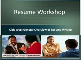By  Career Technical Education  CTE  Online Resume Workshop     SlidePlayer Resume Workshop Objective  General Overview of Resume Writing Presented by  HCC Student Support Services