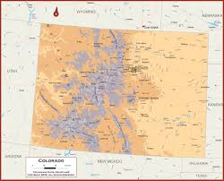 County Map Of Colorado Physical Map Of Colorado You Can See A Map Of Many Places On The