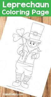adorable leprechaun coloring page st patrick u0027s day free