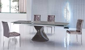 contemporary brown dining set with extendable dining table north