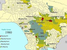 Los Angeles County Map by Los Angeles County Racial Ethnic Breakdown 1940 2000