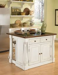 home styles monarch granite top kitchen island with two stools