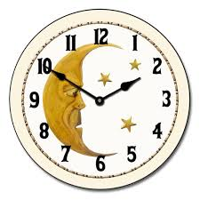 vintage moon clock the big clock store