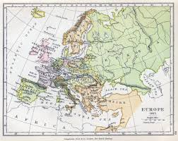 Political Map Europe by Detailed Old Political Map Of Europe U2013 1815 Vidiani Com Maps