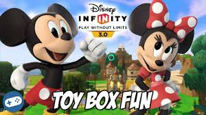 Minnie Mouse Toy Box Mickey Mouse And Minnie Mouse Unboxing And Disney Infinity 3 0 Toy