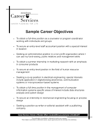 Example Objectives For Resumes by Resume Examples Career Goals Best Resume Objective Entry Level