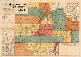 New Mexico County Map Archuleta County Colorado