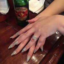 solar stiletto nails done by diane yelp