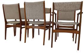 Teak Dining Room Set Set Of Six Original Vintage D Scan Teak Dining Chairs