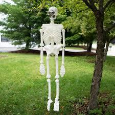 Life Size Skeleton Halloween by Amazon Com Life Size Plastic Skeleton Home U0026 Kitchen