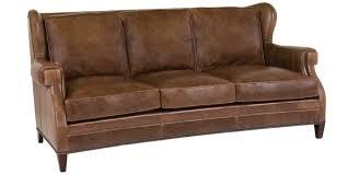 Carolina Leather Sofa by Leather Wingback Sofa Collection Club Furniture