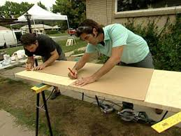build a bamboo butcher block kitchen peninsula hgtv
