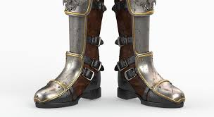 high heel motorcycle boots 3d armor boot cgtrader