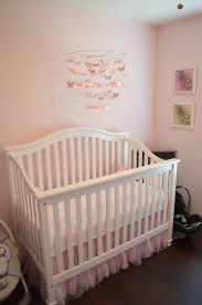Pottery Barn Kids Butterfly Rug by Crib U0026 Mobile Setup With Quilt Mobile And Tulle Crib Skirt All