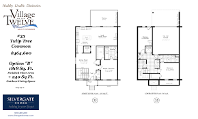 Common House Floor Plans by Silvergate Homes 1818 Sq Feet Tulip Tree Common Silvergate Homes