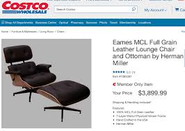 Costco Living Room Brown Leather Chairs Costco Selling The Eames Lounge Chair For 3900 Malelivingspace
