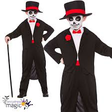child mexican day of the dead zombie halloween fancy dress costume