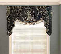 waverly country house toile black valance valances pwv custom