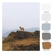 Color Swatches Paint by Portola Paints Color Palette Iceland C O L O R P A L E T T