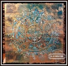 stenciling wooden wall art using a mandala stencil stencil stories