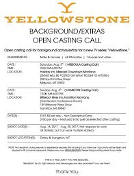 now hiring cast and crew montana film office