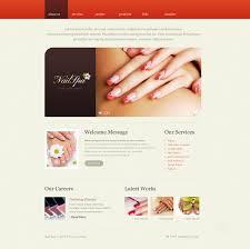 website template 38371 nail salon nails custom website template