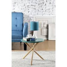 Turquoise Living Room Chair by Blue Accent Tables Living Room Furniture The Home Depot