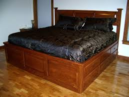 Maple Wood Bedroom Furniture King Size Brown Varnished Maple Wood Captains Bed Frame Which