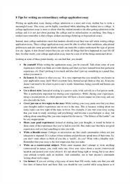 What Makes A Good College Application Essay Writing A Good College Application Essay