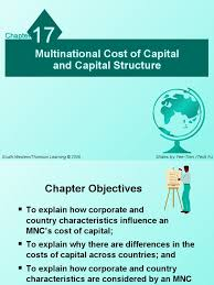 chapter 17 multinational cost of capital and capital structure