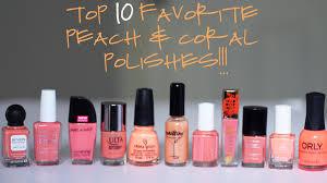 my top 10 peach and coral nail polish favorites 2015 youtube