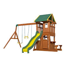 Cedar Playsets Shop Backyard Discovery Oakmont Residential Wood Playset With